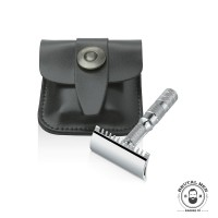 СТАНОК Т-ОБРАЗНИЙ MERKUR SOLINGEN TRAVEL RAZOR 985000 В КОЖАНОМ ЧЕХЛЕ